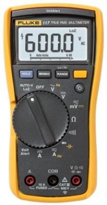 Fluke 117 Digital Multimeter(Yellow, Black 6000 Counts)