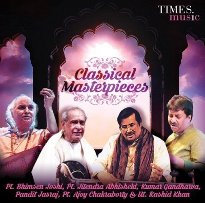 CLASSICAL MASTERPIECES - MALE VOCALISTS Audio CD Standard Edition(Hindi - Pt. Bhimsen Joshi, Ut. Rashid Khan, Pt. Ajoy Chakravarty, Pt. Jitendra Abhisekhi, Pt. Mallikarjun Mansoor, Kumar Gandharva, Pt. Jasraj, Pt.Rajan & Sajan Mishra)