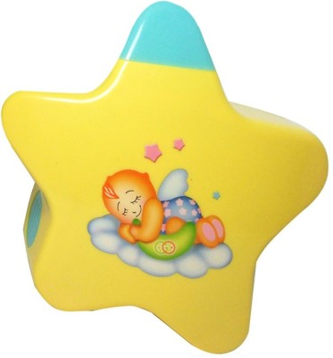 FiableCreations Little Angel's Music Projector Early Development Toy(Yellow)