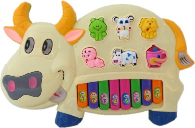 Speoma Educational Musical Cow Piano Keyboard Toy Game for Kids Children (Multicolor)