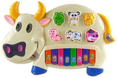 Rey Hawk Cow Piano Keyboard Toy Game(Multicolor)