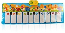 Dimple Animal Carnival Piano Play Mat(White, Blue)