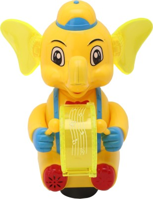 Babytintin A baby Elephant playing drum