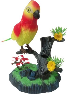 Khareedi Heartful Musical Bird Sound Activated Toy with Pen Stand (Multicolor)