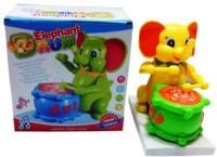 Turban Toys Cute Elephant Musical Drummer(Multicolor)