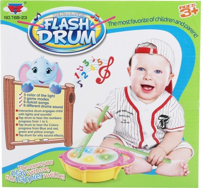 Toysjungle Musical Flash Drum For Kids