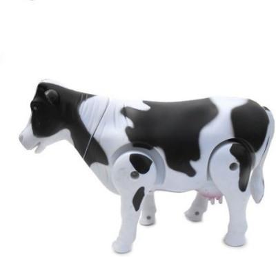 Feleez Walking Milk Cow Toy(Multicolor)