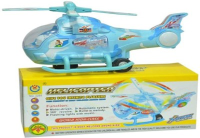 S.G.INTERNATIONAL Turban Toys Helicopter With Led Lights On Wings And Music
