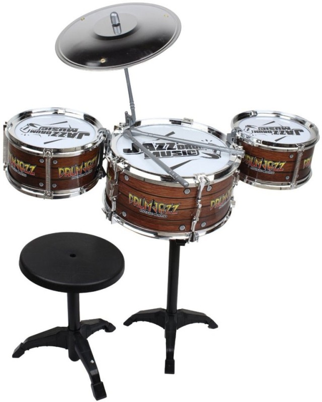A R ENTERPRISES Multicolor Musical Jazz Drum with Stand and...