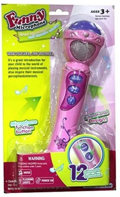 Shop & Shoppee Funny Microphone with 12 Pleasant Melodies