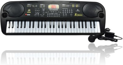 Planet of Toys 54 Key Electronic Keyboard with Microphone and LED Display (Black)