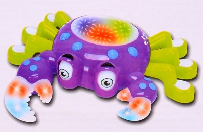 Planet of Toys Bump And Go Musical Crab With Lights