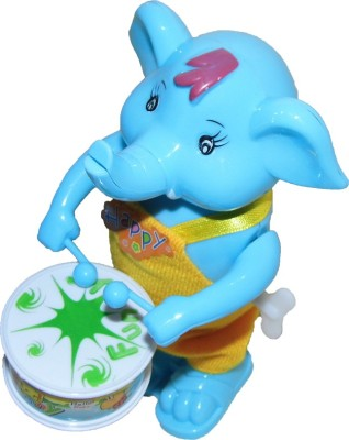 Playking Funny Windup Elephant Drummer Toy