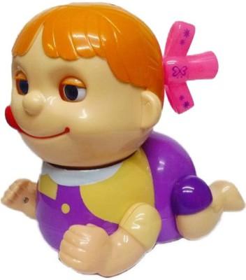 Aryash Highbrow Creation Baby Naughty Musical Crawling Girl Toy