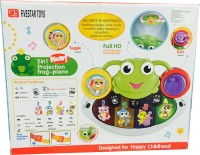 Ayaan Toys 2 In1 Projection Frog - Piano(Green)