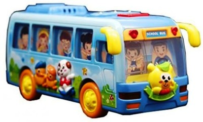 Jaibros Happy Shaking Musical School Bus Toy for Kids