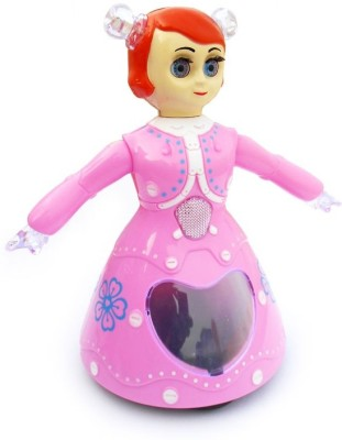 Turban Toys Battery Operated Cute Dancing Princess Doll With 3d Lights And Music