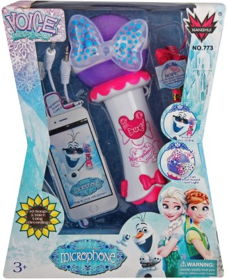 Just Toyz Frozen Princess Light and Sound Recording Sing Along Microphone with 5 kinds of Sound Adjustments