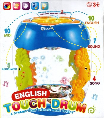 ToysBuggy Musical Flash Touch Drum With Flashing Lights And Rotating Fish
