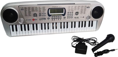 Meher Enterprises 54 keys black electronic piano with 6 AA batteries (5407)