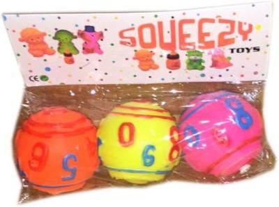 Rahul Toys 3 Pcs Chu Chu Ball