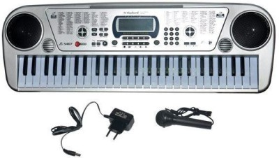 A R ENTERPRISES 54 Keys Piano With LED Display - Silver