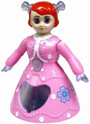 Unica 3D Light Music Dancing Princess Barbie Girl Toy for Kids