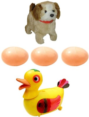 A R ENTERPRISES Jumping Dog and Egg Laying Duck- musical toys