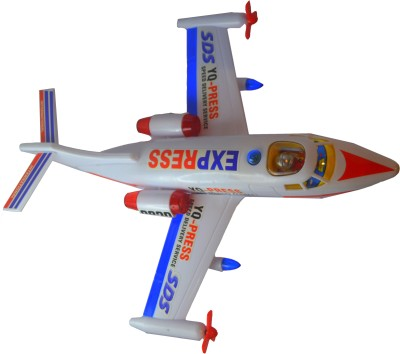 Shop4everything Yq-Press Delivery Plane With Realistic Sound And Lighting