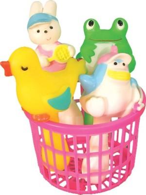 Masoom Squeezy Rattle Animal Basket Set