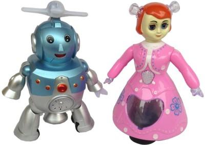 Shop & Shoppee Combo of Dancing Robot & Princess Doll