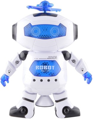 Wishkey Battery Operated Dancing and Musical Robot(White)