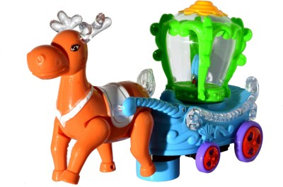Toyzstation Deer with Carriage with Light and Music