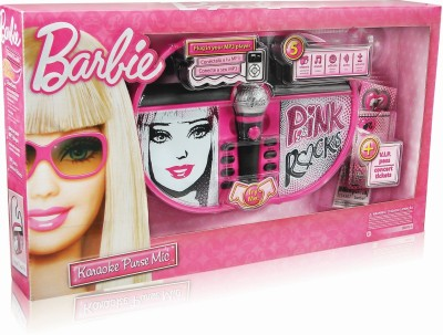 Barbie Karaoke Mic Boom Box