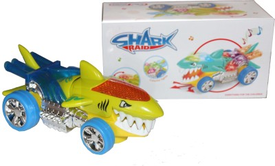 Scrazy Funny Electric Cartoon Shark Raid Toy with Lights And Music