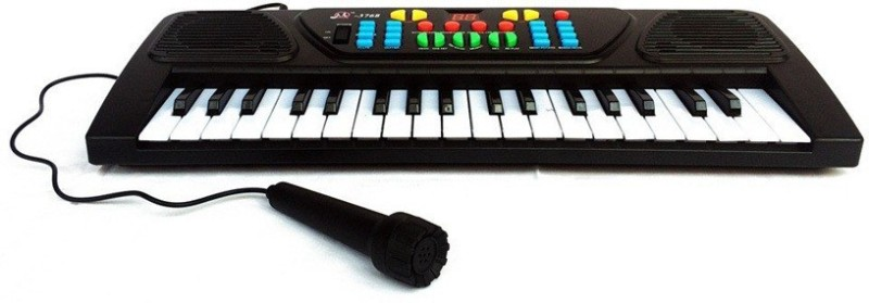 gm enterprises 37 keys electronic keyboard with mic(Black)