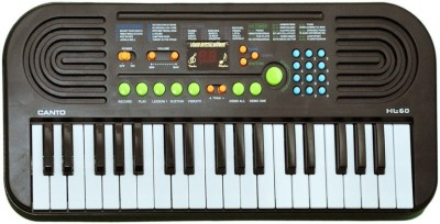 Prro 37 Keys Electronic Piano Or Keyboard With Mike & Power Adopter(Grey)