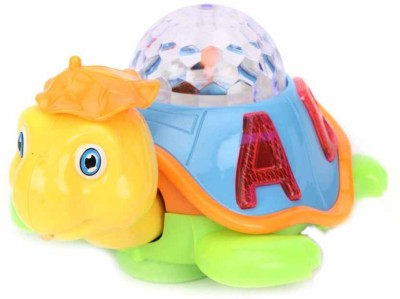Turban Toys Musical happy Dancing With 3d Lights Turtle