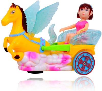Planet of Toys Musical Moving Princess Carriage With Lights