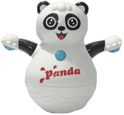 Littlegrin Musical Roly Poly Panda with Projector Lighting Gift Toy for Toddlers Infants Kids