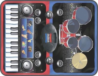 maxplanet ZIPPY MAT - 2 in 1 Musical Jam Playmat, Multi Color
