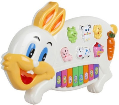 Unica Rabbit shaped Keyboard Piano Learning Toy for Kids,Birthday Gift