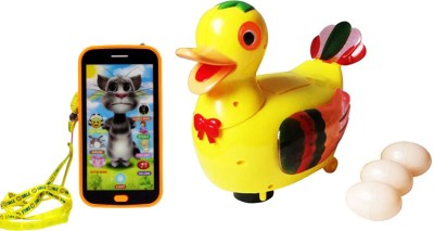 Scrazy Musical Egg Duck With Talking Tom Cat Smartphone
