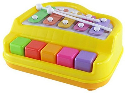Smiles Creation Happy Xylophone + Piano Musical Toy with 2 Mallets
