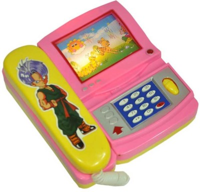 Turban Toys Musical Phone with Cartoon Moving Screen