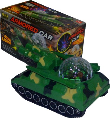 Shop4everything ARMORED CAR with PROJECTION light and music.