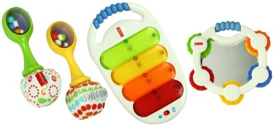 Fisher-Price Musical 3 Pack Combo Gift Pack - White