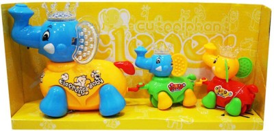 zaprap Cute Clever Elephant with Family
