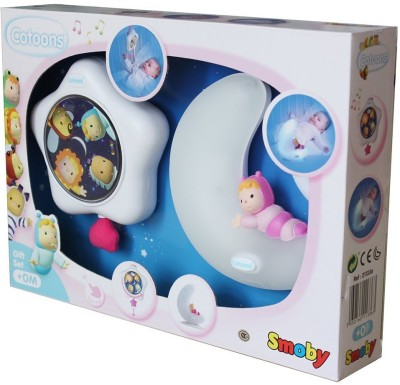 Smoby Cotoons Night Light & Musical Pull Toy Gift Set
