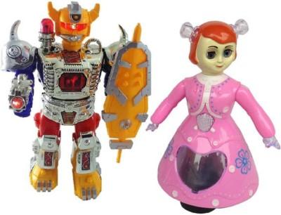 Shop & Shoppee Combo of Musical Robot & Princess Doll